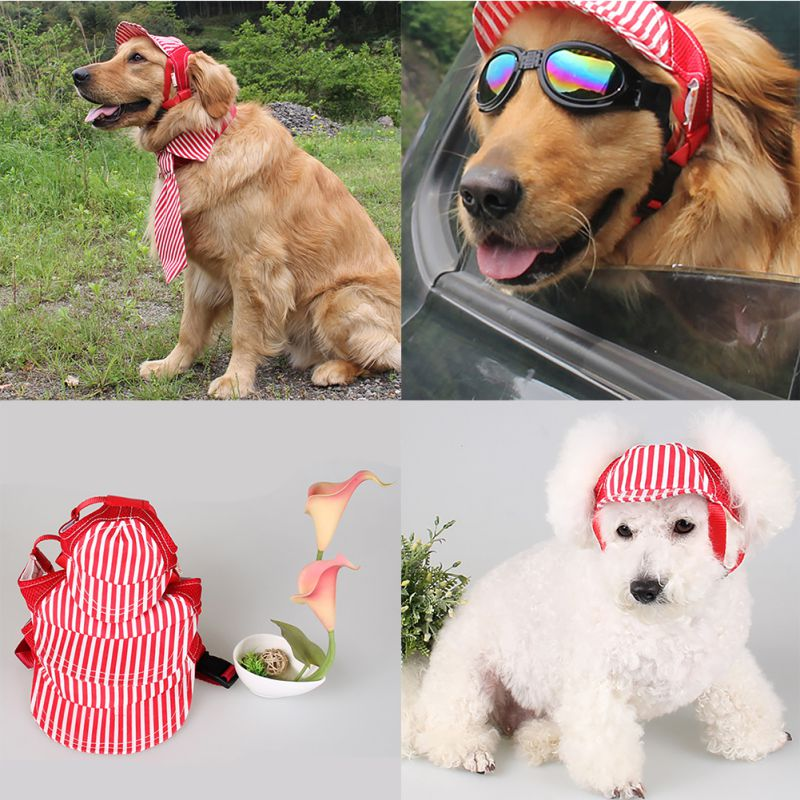 2018 Hot Sale Small Pet Summer Canvas Cap Dog Baseball Visor Hat Puppy Outdoor Cap Chihuahua Yorkshire Pet Products
