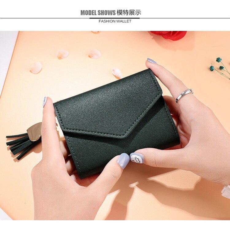Мини-кошелек с кисточками, женский модный кошелек, женские короткие мини-кошельки, корейские студенческие милые кошельки, женский маленький кошелек для женщин