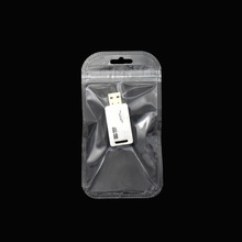 7.5*14cm Self Seal Zipper Zip Lock Clear Plastic Packing Bags Retail 200pcs/lot Reclosable Poly Bag for Jewelry Electronics Pack