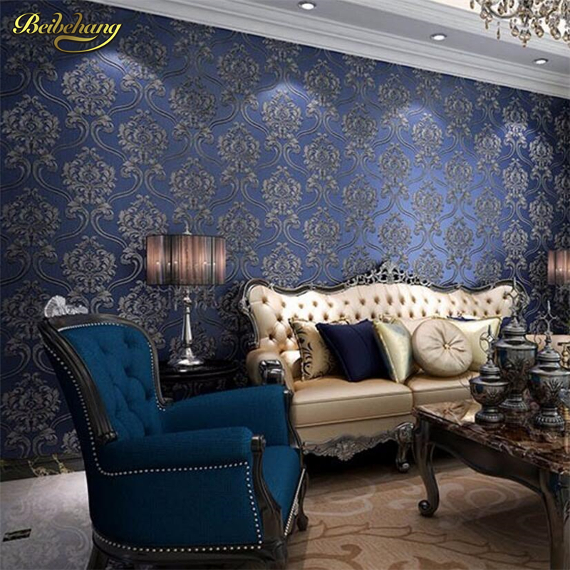 beibehang papel de parede wallpaper Damask Floral Wall Paper Wallpapers Roll Europe Classic for Living Room Bedroom Home Decor beibehang wall coverings mural wall paper roll bedroom sofa off white textured feature europe vintage glitter damask wallpaper