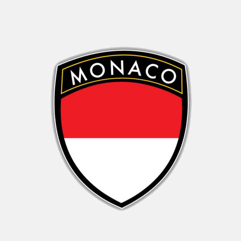 YJZT 10.4 cm * 12 cm Cá Tính Xe Máy Monaco Cờ Lá Chắn Decal Xe Nhãn Dán 6-3032