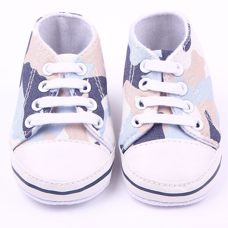 Infant Toddler Shoes Baby Boy Girls Camouflage Soft Buttom Shoes First Walkers