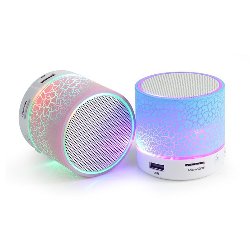 Mini Wireless Bluetooth2.1 Speaker Portable Stereo Sound TF Card USB LED Light
