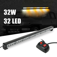 36inch 32LED Car Day Light Emergency Warning Light Bar Traffic Advisor Strobe Light Amber&White