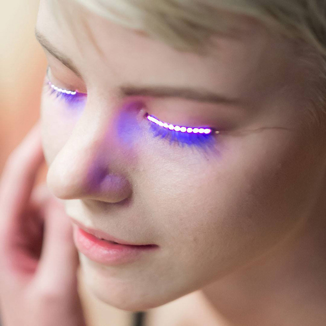 Nightclub Halloween Led Lashes Party Flashing Led Eyelashes