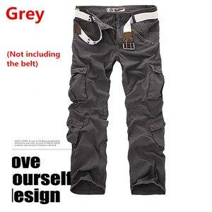 Image 4 - Pantalones Cargo de camuflaje del ejército militar para hombre, 9 colores, multibolsillos, informales, rectos, largos, holgados, pantalones de camuflaje tácticos (sin cinturón)