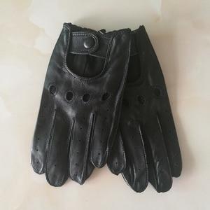 Image 2 - Echte Leer Man Handschoenen Lente Zomer Dunne Ongevoerd Ademend Antislip Locomotief Motorfiets Rijden Handschoenen Mannelijke M023W 1
