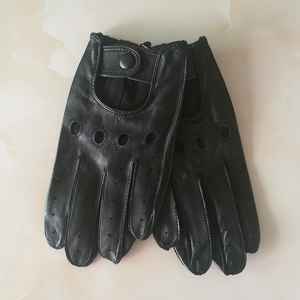 Image 2 - Real Leather Mans Gloves Spring Summer Thin Unlined Breathable Non Slip Locomotive Motorcycle Driving Gloves Male M023W 1