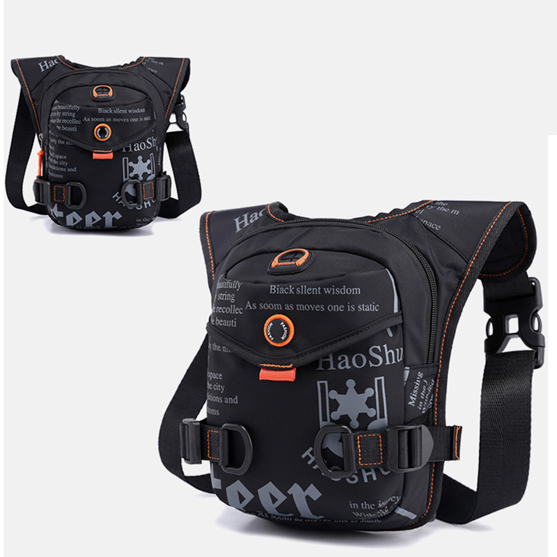 Motorcycle Riding Men Nylon/Waterproof Oxford Ride Leg Waist Pack Drop High Quality Hip Messenger Shoulder Fanny Bag