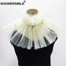 SHOWERSMILE Fake Collar For Women Vintage Wedding Bride Detachable Pearl Decoration Beige Spring False Stand