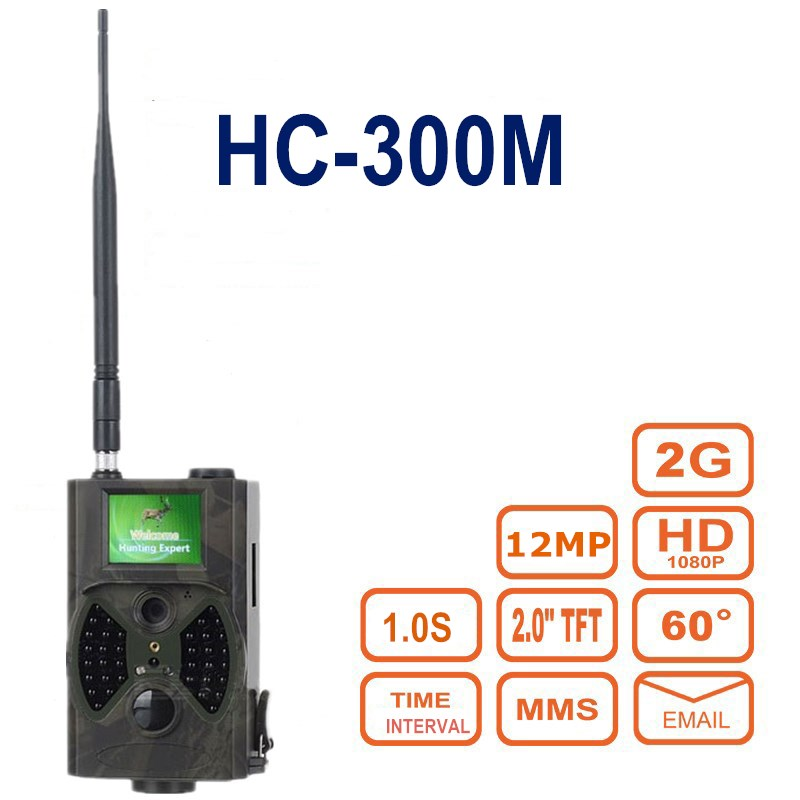 Hunting Trail Camera HC300M 2G MMS SMTP 16MP Cellular Hunting Cameras Night Vision Infrared Photo Trap Wireless  Surveillance