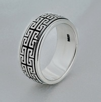 925 sterling silver men's ring can turn vintage domineering Great Wall couple jewelry