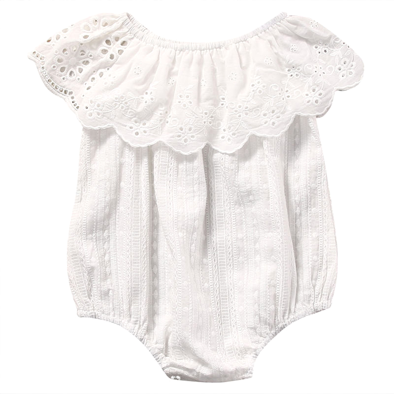 Newborn Infant Baby Girl Floral Romper Jumpsuit Outfits Sunsuit Clothes , White # Off Shoulder Romper