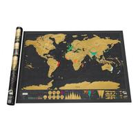 Deluxe Edition Scratch Map Travel Scratch Off Map Personalized Black Journal World Map Foil Layer Coating