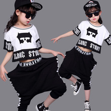 Children's Streetwear Fashion Set Suits Kids Clothing Hip Hop Dance Sets For Girls And Boys Jazz Clothing Costumes Sets Kid 1718