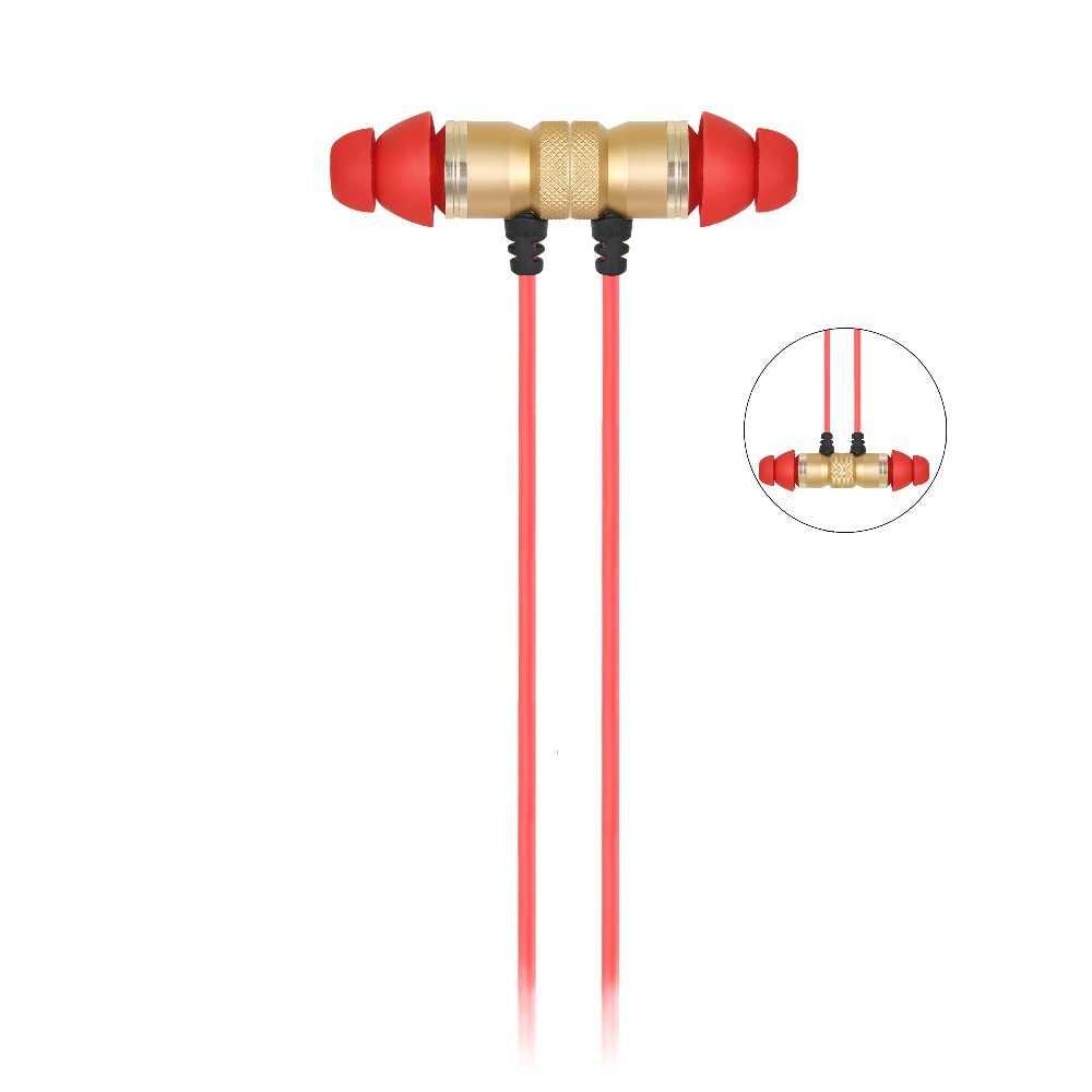 IPUDIS imán de gama alta con cable para auriculares en la oreja auriculares de Metal para auriculares de teléfono auriculares de 3,5mm AUX con micrófono