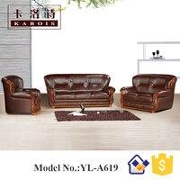 Model A619alibaba Malaysia U Shape 1s 2s 3s Section Genuine Leather Sofa