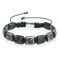 Mcllroy charms bracelet men Stainless steel braided bracelet adjustable natural stone bracelets handmade charm bangles for woman