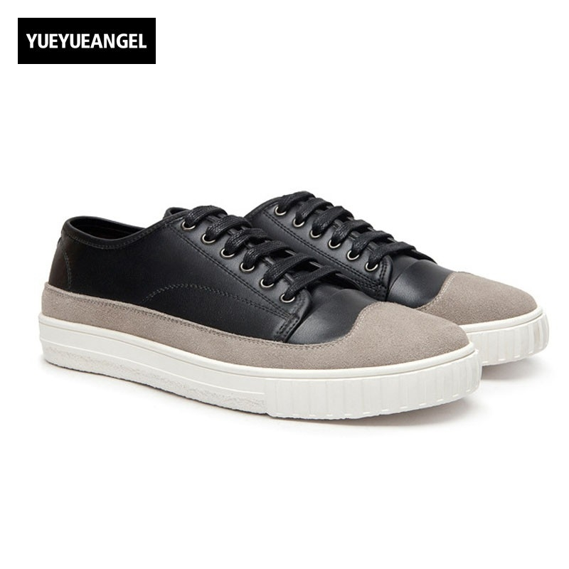 New Fashion Mens Loafers Breathable Lace Up Pu Leather Casual Shoes Male Footwear England Style Match Color Black White Flat men casual shoes breathable all match male british leather breathable sneaker fashion shoes