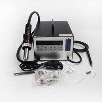 Bga станция AOYUE i852A + + SMT горячего воздуха 2 в 1 паяльная станция с 4 насадки IC Remover ручка всасывания