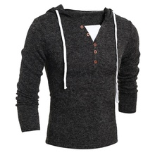 ZOGAA Brand Geek New Mens Sweaters Fashion Design Solid Hooded Knit Sweater Coat Men Clothes Slim Fit Pullovers sweater men