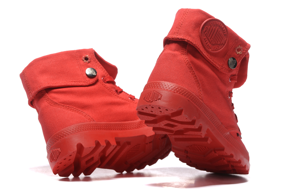 1b16643cd40 Товар PALLADIUM Pallabrouse All Red Sneakers Men High-top Military ...