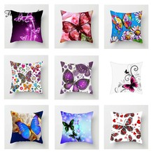 Fuwatacchi Multi Color Butterfly Cushion Cover Cute  Soft Throw Pillow Decorative Sofa Case Pillowcase
