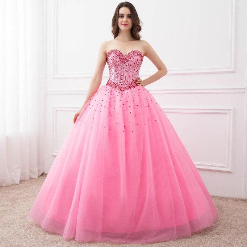 En Stock robe de bal Quinceanera robes chérie espionnage perles robes de fête robes formelles longues robes de bal pour doux 16 ans