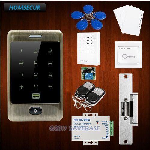 HOMSECUR Waterproof Green Bronze 125Khz RFID Access Control System+Tamper Alarm+Doorbell homsecur waterproof 125khz rfid access control system with 8000 user capacity tamper alarm function doorbell