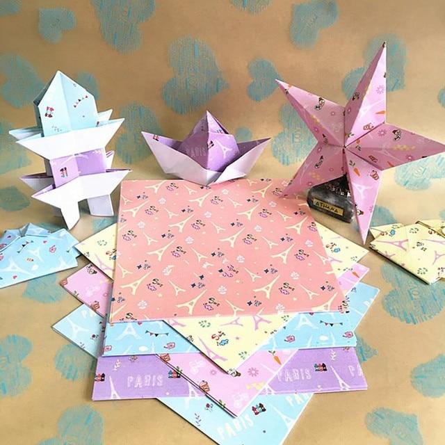 68pcs eiffel tower printed cranes paper 14x14 cm square paper making 68pcs eiffel tower printed cranes paper 14x14 cm square paper making paper flowers colored origami folding mightylinksfo