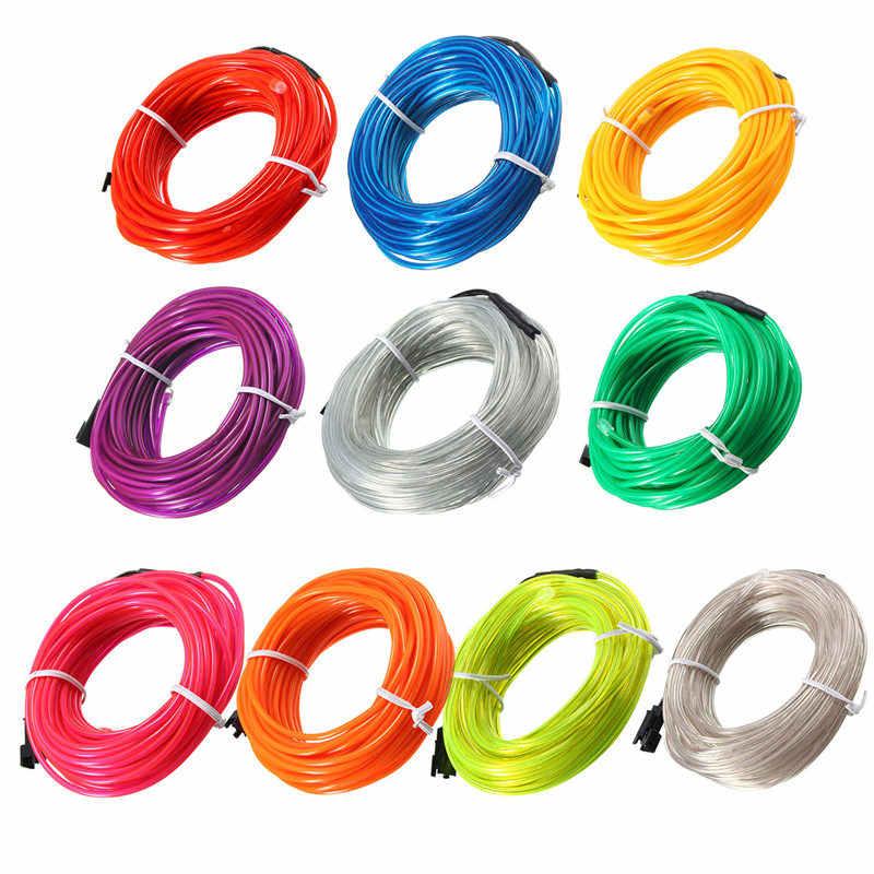 5M EL tubo de tiras de neón para EL hogar Auto decoración flexible plegable fiesta Deco EL resplandor de la cuerda