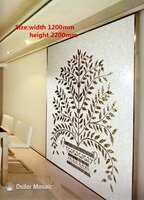 Customized handmade mosaic art mother of pearl mosaic tile art murals for interior house decoration tree pattern