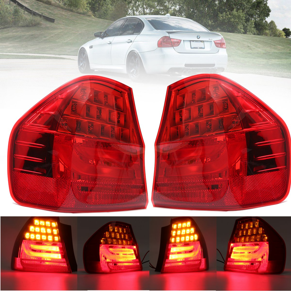 1Pcs Car Rear Tail Lamp Light Led Light Left / Right Side For BMW 3 SERIES E90 2008 2009 2010 2011 red left right car rear side tail light brake lamp light for toyota hilux 2005 2006 2007 2008 2009 2010 2015 lh rh