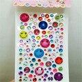10 unids/lote cristal de diamante pegatinas de Dibujos Animados pegatinas teléfono móvil de perforación de los niños pegatinas de dibujos animados decoración del coche de la computadora