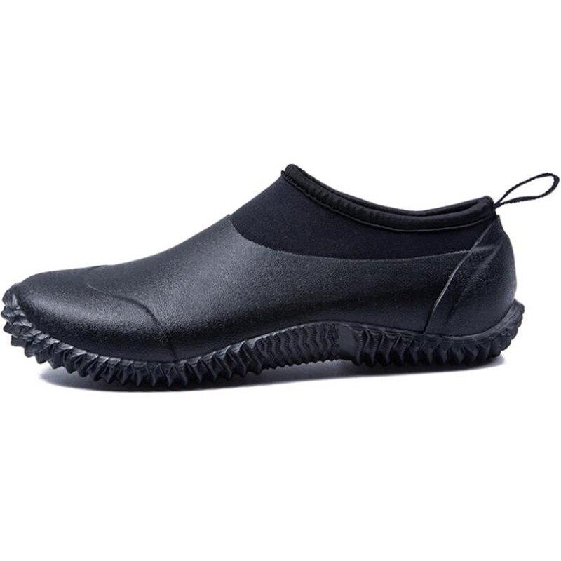 Chaussures La Automne Noir Plus Imperméables Rond Peu Profonde Hommes Rainboots TopDamet Couleur Sur Taille Black Bout Glissement Caoutchouc Mode Hiver Mâle CQdBosrthx