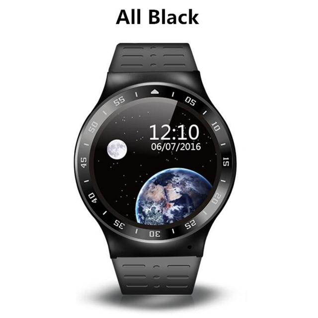 Полный Круглый Экран S99 Smart watch MTK6580 Android 5.1 Bluetooth4.0 GPS Google app Сердечного ритма Фитнес Tracker Smartwatch Телефон
