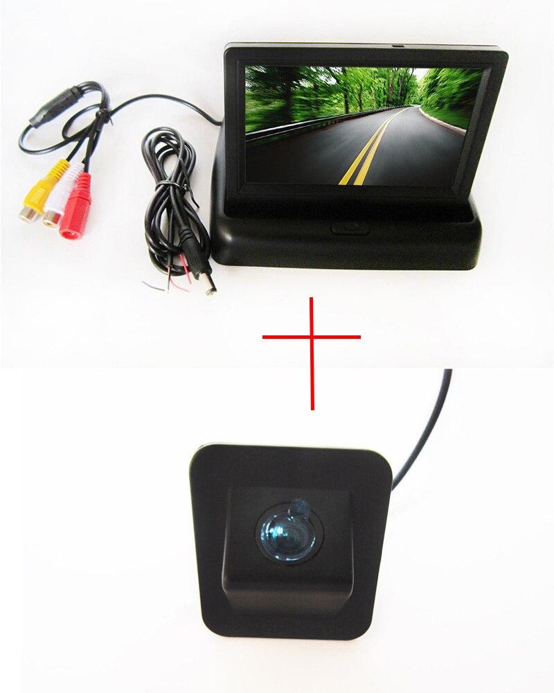 Caméra de vue arrière de voiture couleur CCD pour Hyundai Elantra Avante 2012, avec moniteur LCD TFT pliable de 4.3 pouces