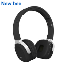 New Bee Folder Bluetooth Headphone Portable Bluetooth Headset Sport Earphone with Mic Pedometer Earbud Case for