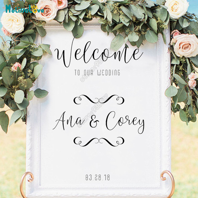 Custom Name And Date Welcome To Our Wedding DIY Wedding Board ...