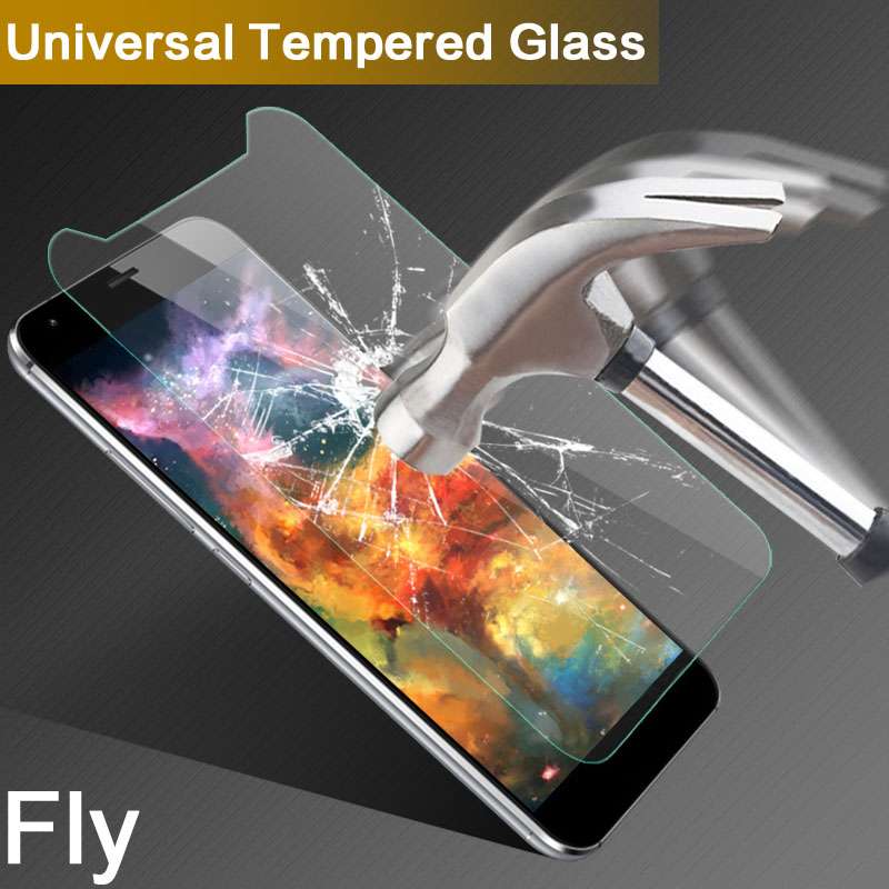 Universal Tempered Glass Film For Fly IQ456/IQ446 Era Life 2 5.0 inch 9H 2.5D Screen Protector For Fly IQ4502 ERA Energy 1