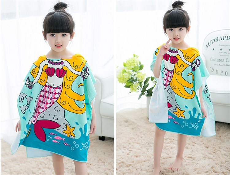 Bath & Shower Product Kids Towel Toddler Bathrobe Baby Boys Girls Spring Animal Hooded Bath Towel Children Cartoon Towel Kids Hooded Bath Towel Towels