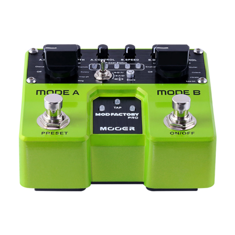 Mooer Mod Factory Pro Modulation Guitar Effect Pedal TME1 16 Modulation Effects 4 Presets Digital Effects for Electric Guitar mooer mod factory modulation guitar effects pedal true bypass with free connector and footswitch topper