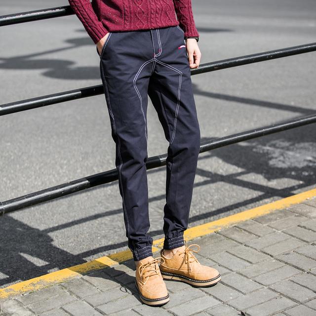 Pantalon Homme quente Corredores Calça Casual 2017 Nova Primavera Slim Fit lápis Calça Homem Dos Homens Meados de Cintura Harem Pants Calças masculinas 5XL-M