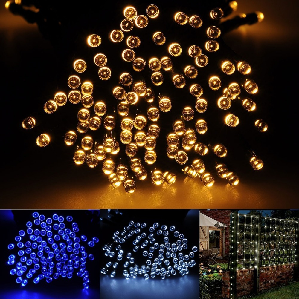 Battery Operated 1 2m Led String Lights Christmas Tree Fairy Wedding Home Garden Indoor Outdoor Decoration Lighting