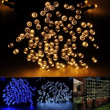100/200 LED Christmas Lights solar led fairy string light fairy light Xmas 22M Waterproof Outdoor Garden party wedding Decor 22m 200 led solar strip light outdoor lighting garland christmas trees led string fairy lights waterproof for wedding garden new