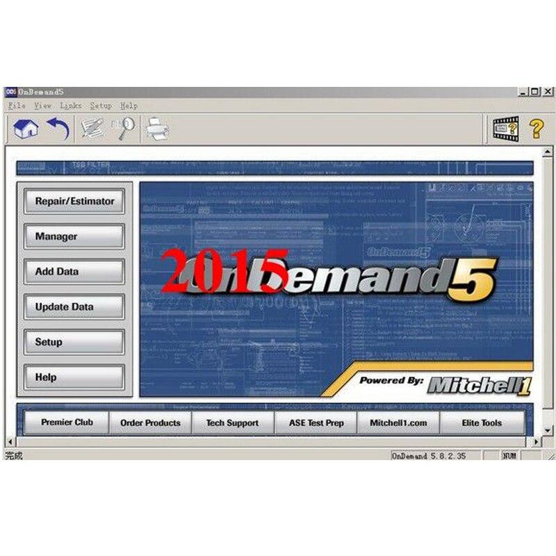 Logiciel de réparation automatique Mitchell logiciel à la demande 2015 V dernière version logiciel de données de réparation de voiture en 250 gb disque dur hdd livraison gratuite