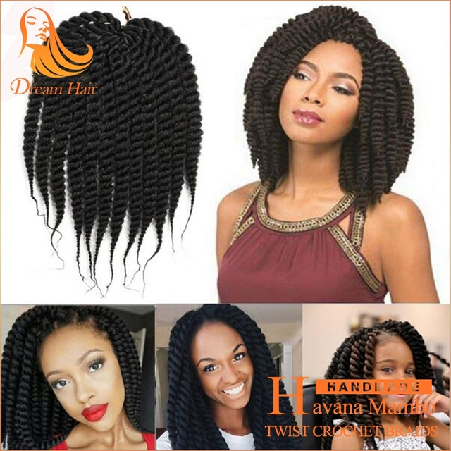12inch Havana Mambo Crochet Twist Hair Kanekalon Hair Protective