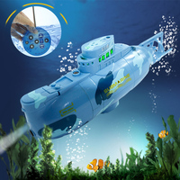 Novelty High Speed Radio RC Submarine 6 Function Electric Mini Remote Control Explosion Military Battle for Kid Summer Fun Toys