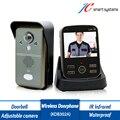 Kivos KDB302A китай интерком-гарнитура тембр inalámbrico беспроводной дверной звонок квартира видео-телефон двери с регулируемым камеры для широкого Vie