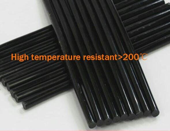 High temperature resistant black 30PCS 7*270mm black  plastic/resin Economy Hot Melt Glue Sticks  Hot Melt Glue Adhesive Stick xps13 us layout laptop keyboard for dell xps 13 9333 keyboard 9343 9350 l321x l322x notebook black keyboard win7